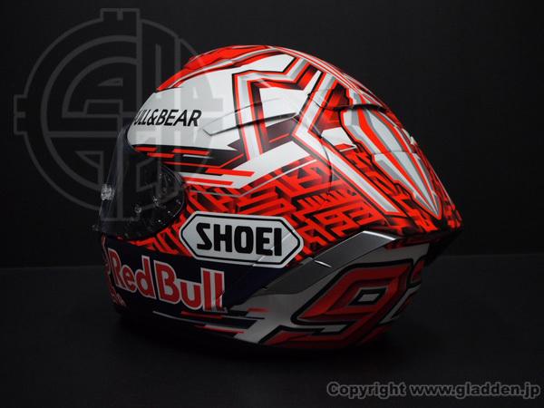SHOEI X-FOURTEEN マルケス5ヘルメット 追加ペイント_f0320808_17371315.jpg