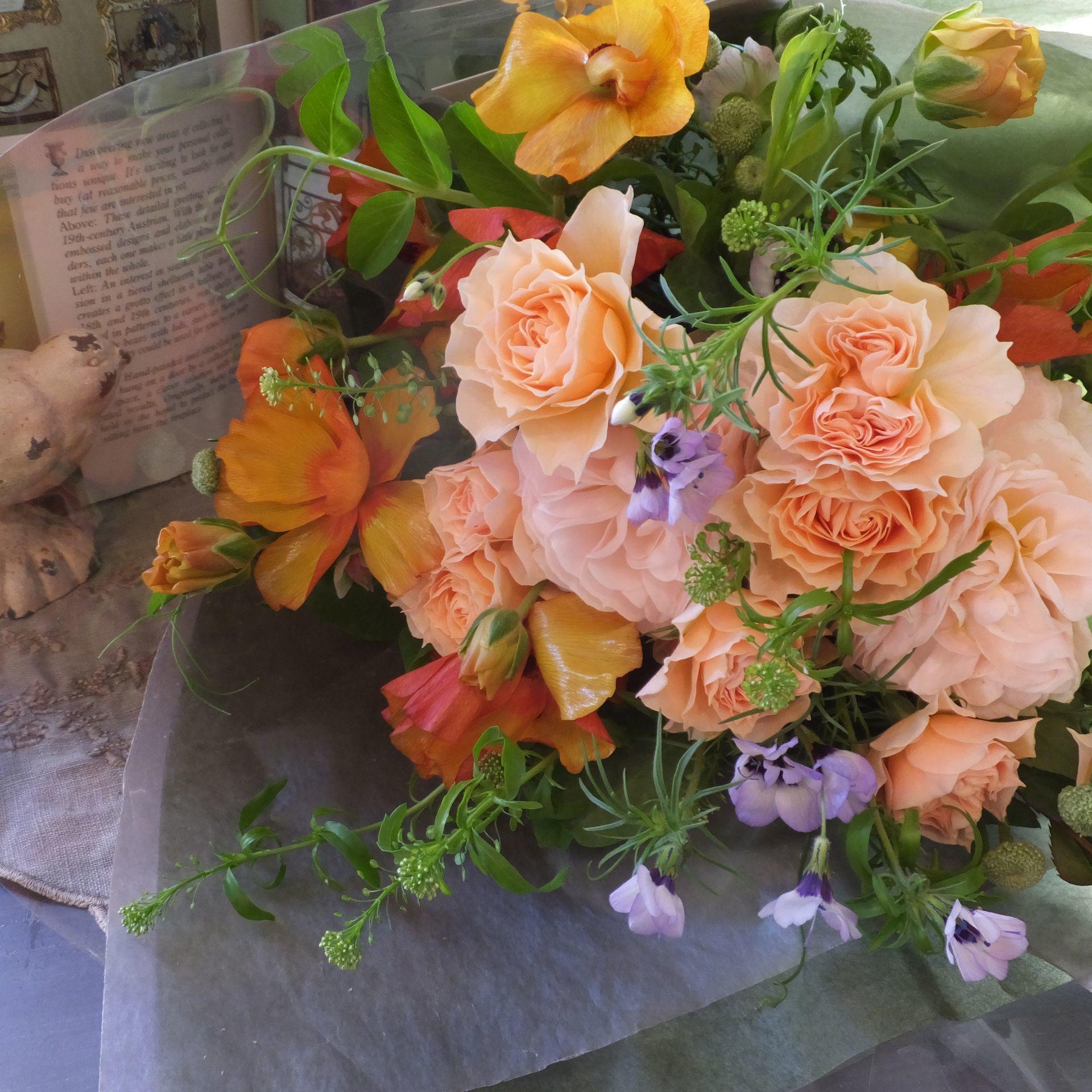 オークリーフ(ローズファームケイジさんのバラを使って・花束)_f0049672_14381515.jpg
