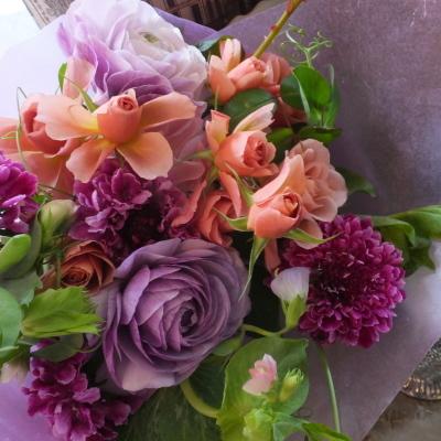 オークリーフ(ローズファームケイジさんのバラを使って・花束)_f0049672_14382478.jpg