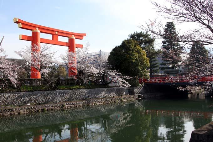 平安神宮大鳥居と疎水・インクラインあたり_e0048413_21360372.jpg