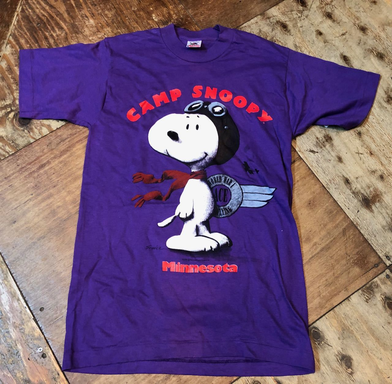 4月7日(日)入荷!90s MADE IN U.S.A  SNOOPY プリント! FRUIT OF THE LOOM Tシャツ! _c0144020_13100163.jpg