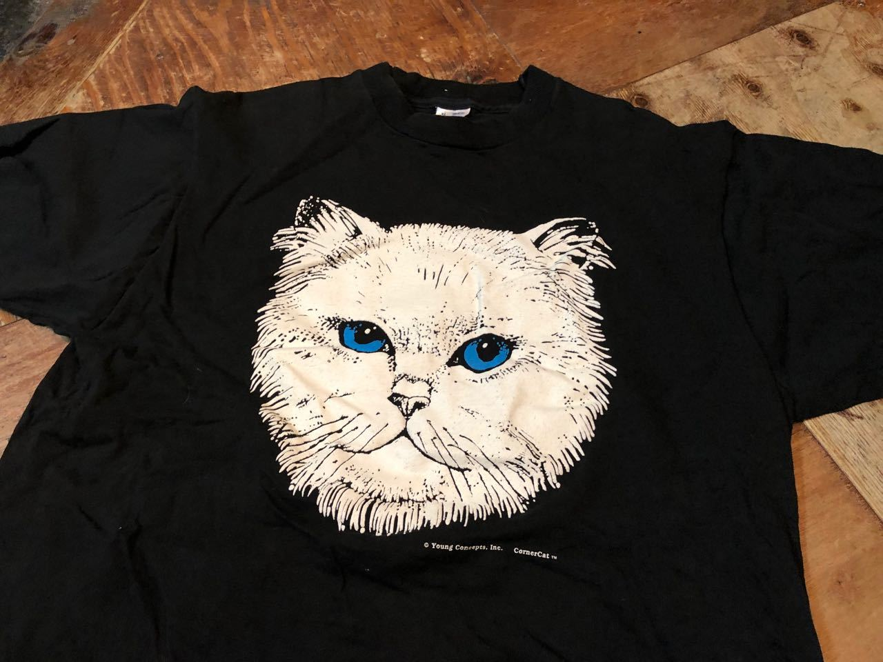 4月7日(日)入荷!90s MADE IN U.S.A  CAT PRINT FURUIT OF THE LOON Tシャツ! _c0144020_13120861.jpg