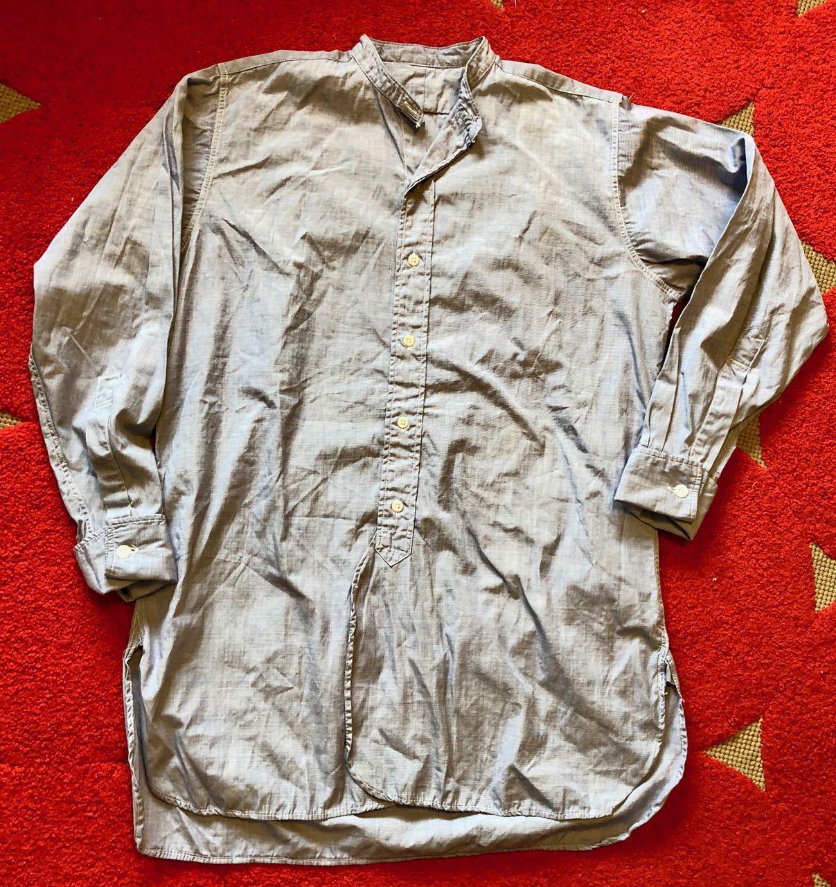 4月7日(日)入荷!60s  British Army Officer Shirts マチ付き ハケメ all cotton  ユーロビンテージシャツ! _c0144020_13211806.jpg