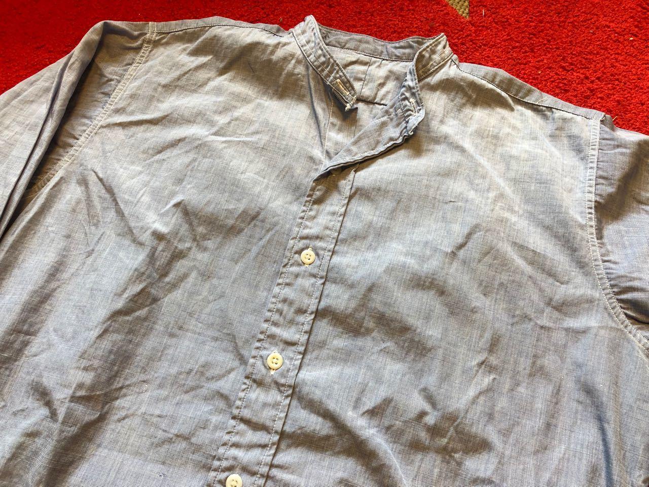 4月7日(日)入荷!60s  British Army Officer Shirts マチ付き ハケメ all cotton  ユーロビンテージシャツ! _c0144020_13212174.jpg