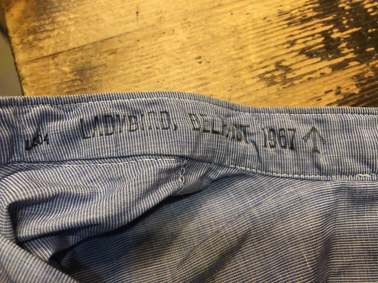 4月7日(日)入荷!60s  British Army Officer Shirts マチ付き ハケメ all cotton  ユーロビンテージシャツ! _c0144020_13213205.jpg