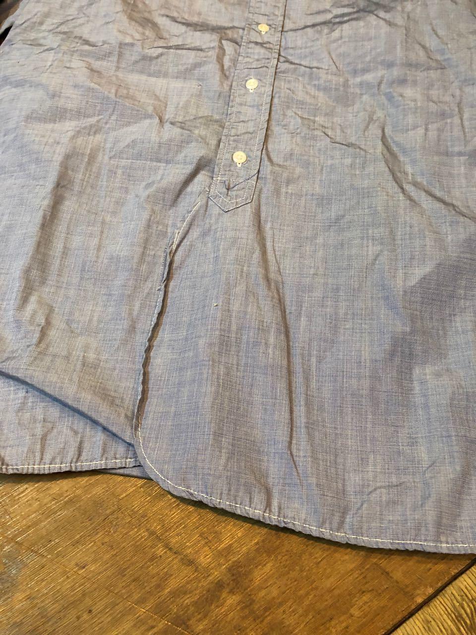 4月7日(日)入荷!60s  British Army Officer Shirts マチ付き ハケメ all cotton  ユーロビンテージシャツ! _c0144020_13230393.jpg