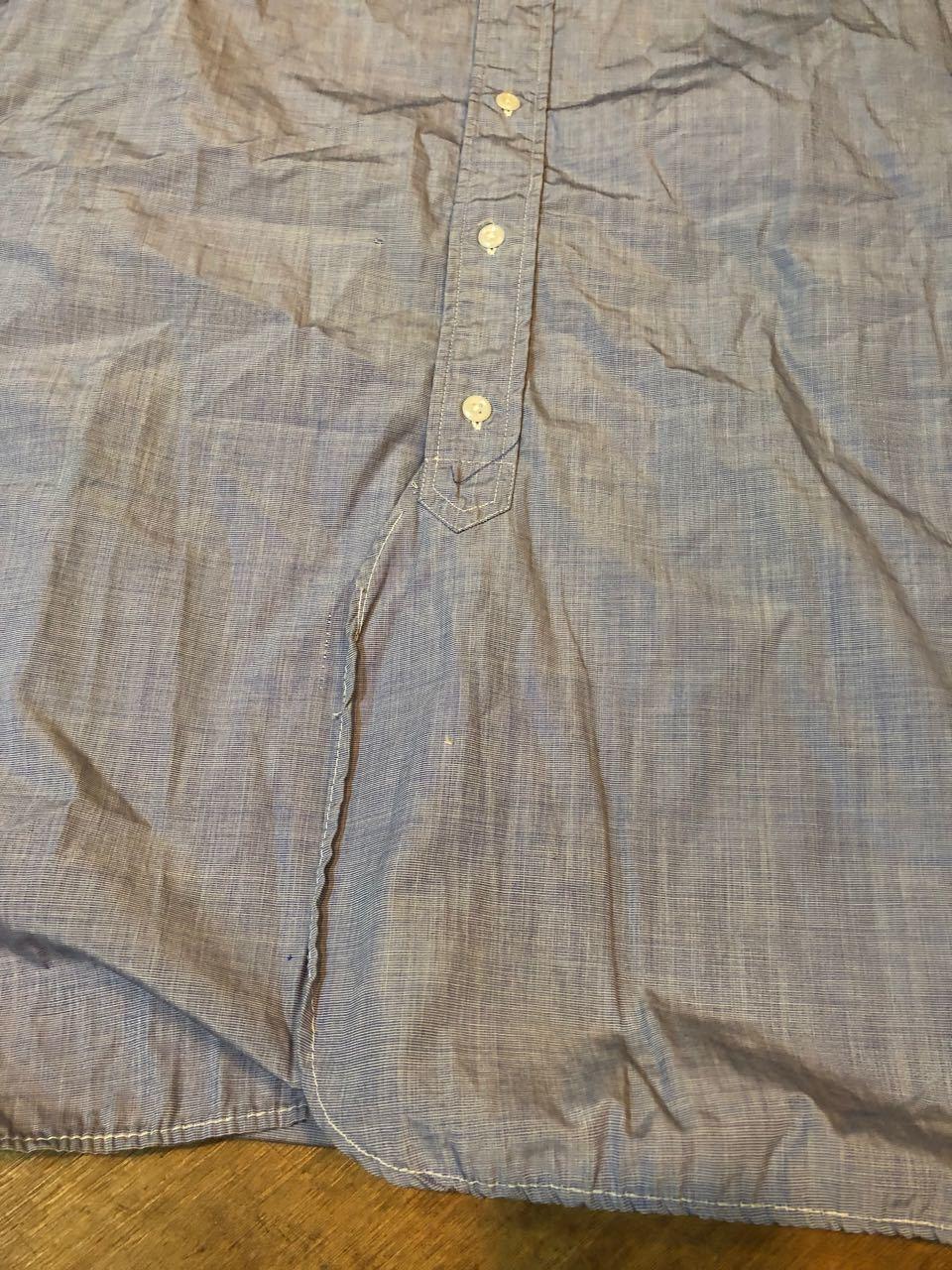 4月7日(日)入荷!60s  British Army Officer Shirts マチ付き ハケメ all cotton  ユーロビンテージシャツ! _c0144020_13234223.jpg