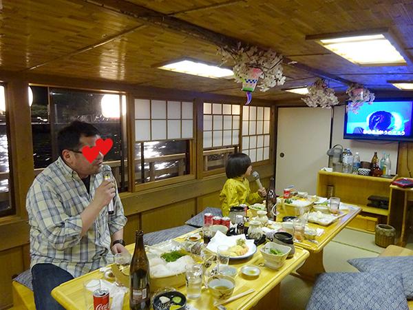 屋形船に乗って、夜桜隅田川クルーズ(前編)_f0097523_21545661.jpg
