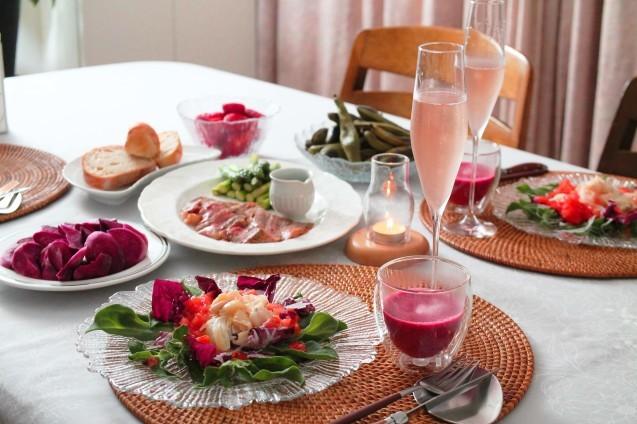 ローストビーフと赤いお野菜_d0377645_23284517.jpg