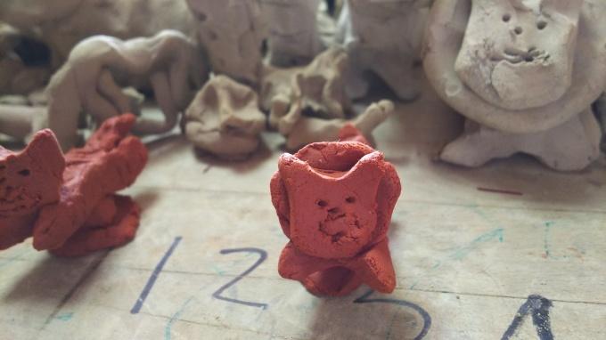 陶芸教室と苺のアップリケ♪_f0374160_21132359.jpg