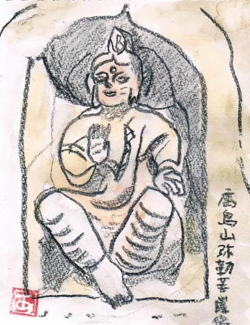 鷹取山の弥勒菩薩尊像_e0232277_11553061.jpg