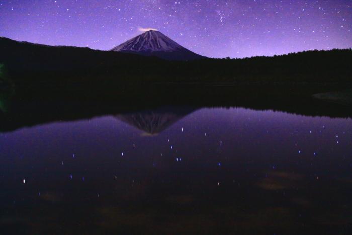 31年4月の富士(1)西湖の夜空と富士_e0344396_17041085.jpg