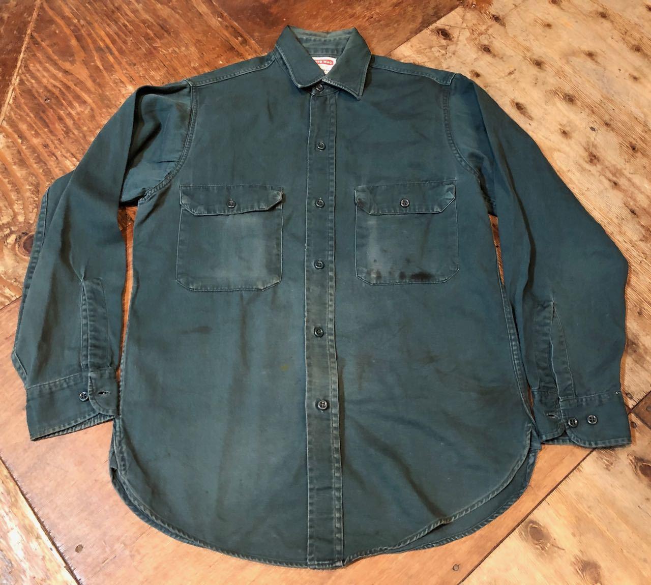 4月8日(月)入荷! 60s BIGMAC マチ付き ワークシャツ all cotton !_c0144020_15345204.jpg