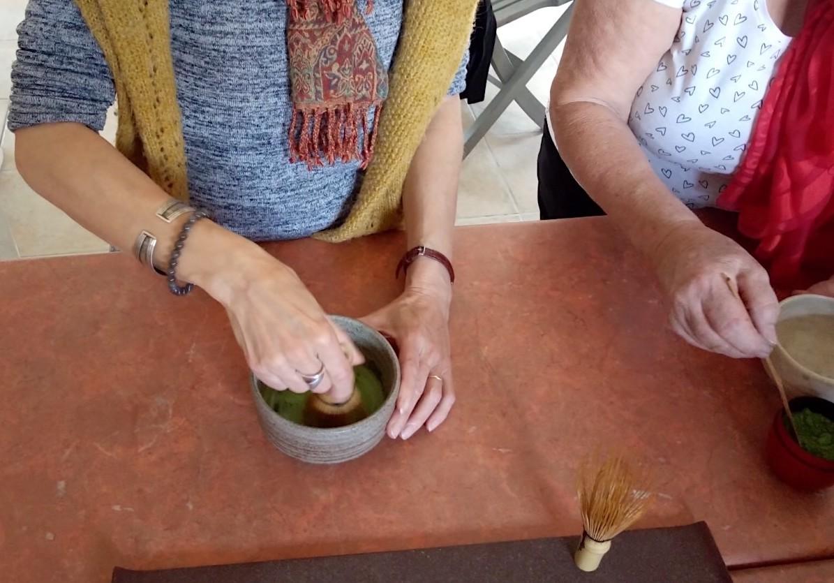 抹茶とガトーバスク  Matcha et  gâteau basque_e0243221_22541185.jpg