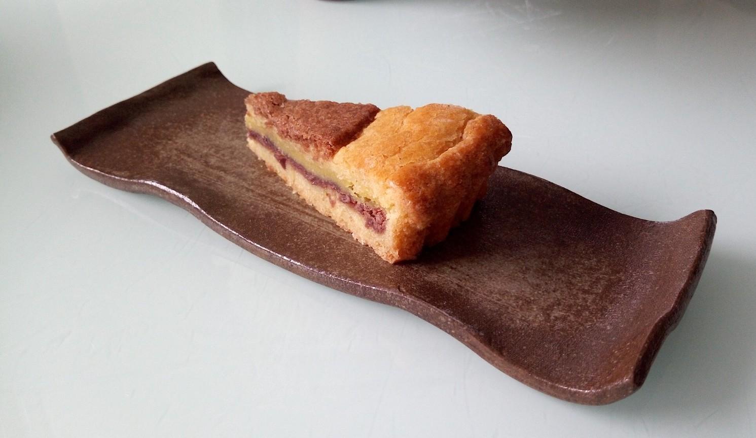 抹茶とガトーバスク  Matcha et  gâteau basque_e0243221_01195941.jpg