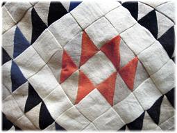リネンやヘンプ、藍染め布の切れ端でキルト作り その2_d0221430_16460843.jpg