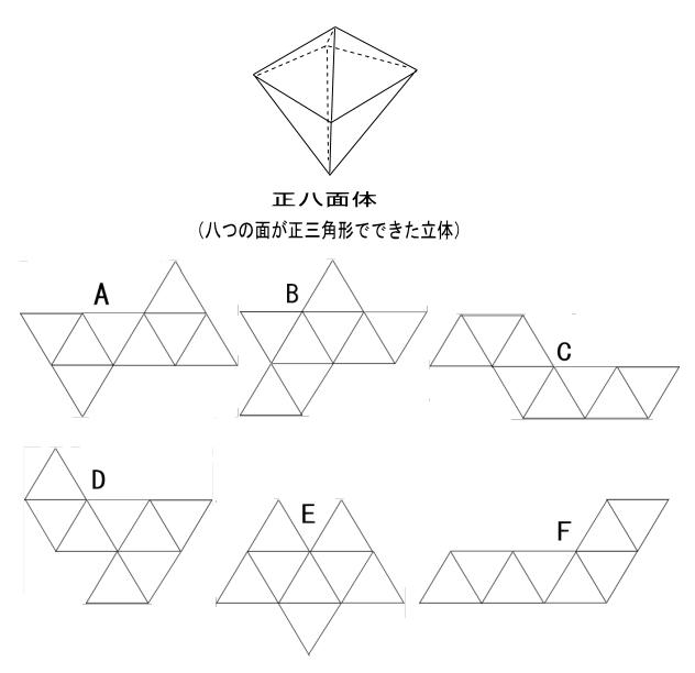 算数o<29-1>正八面体の展開図 : 齊藤数学教室のお弟子さんを取ります ...