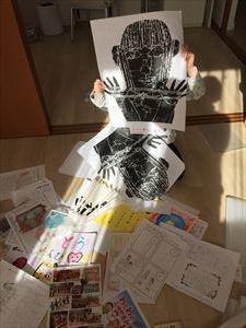 [小学1年生日記 ⑯] 1年分の思い出、作品の整理_a0239890_20224939.jpg
