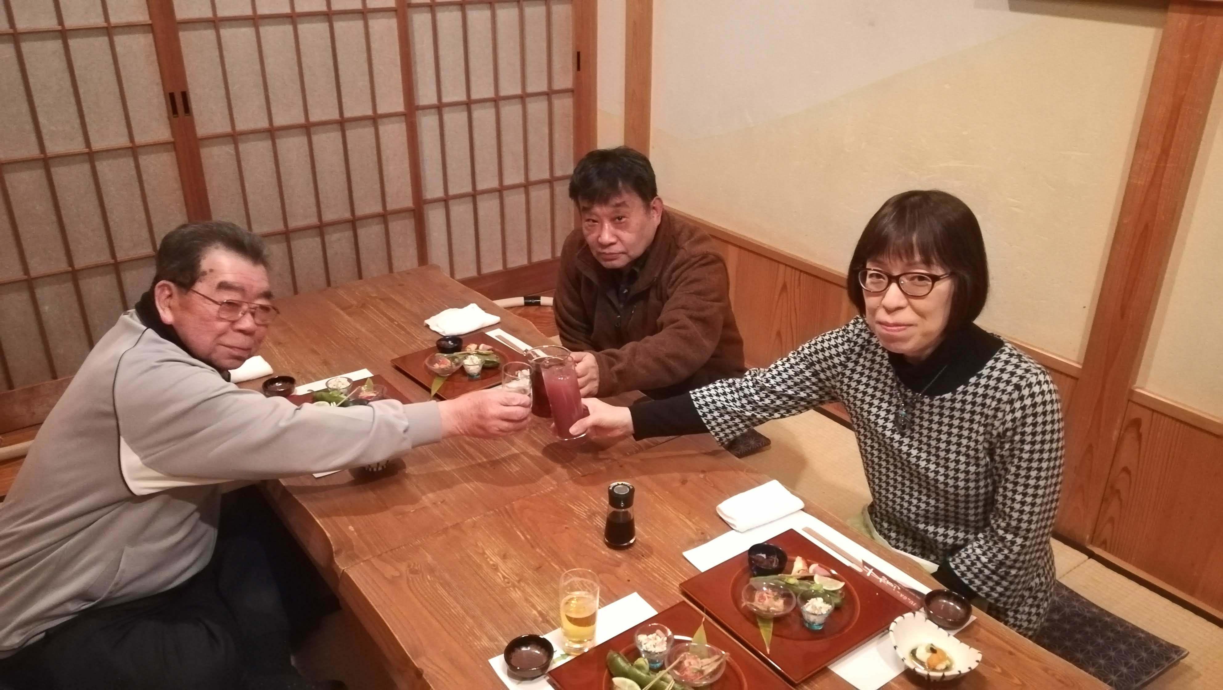 定年のお祝い&羽田さとみさんセレモニー_c0193896_14065011.jpg