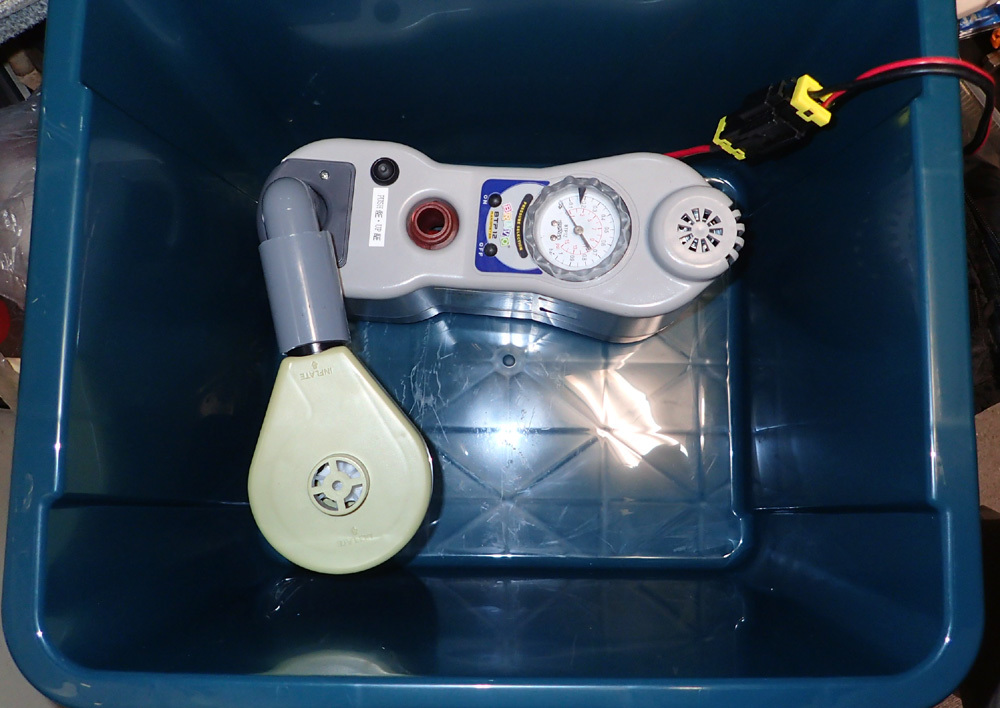 高圧エアポンプ防音ケース製作・その1。 2019年4月10日(水)_d0171823_20281806.jpg