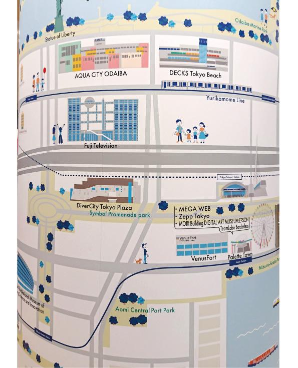 【店内演出】お台場イラストマップを製作しました【アクアシティお台場】_d0272182_21130138.jpg