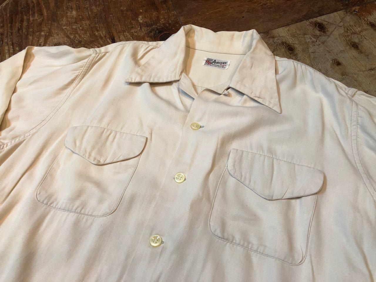 4月13日(土)入荷! 50s PURITAN Gabardine shirts  !_c0144020_13564379.jpg