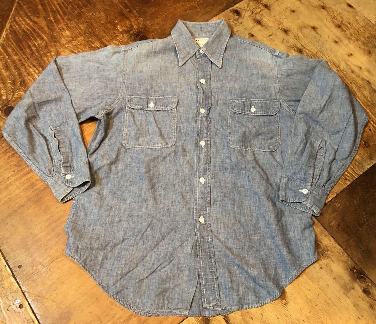 4月13日(土)入荷! 70s  all cotton J.C Penny シャンブレーシャツ!_c0144020_14060309.jpg