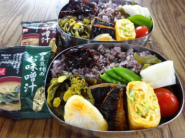 今週の弁当と、散りゆく目黒川の桜_f0097523_15073384.jpg