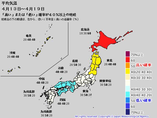 週間予報支援図(2019年4月12日版)+気象庁1ヶ月予報_e0037849_21151221.png