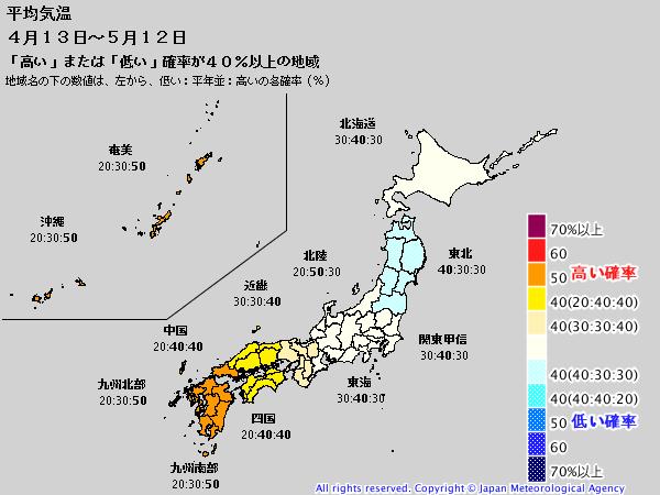 週間予報支援図(2019年4月12日版)+気象庁1ヶ月予報_e0037849_21151238.png