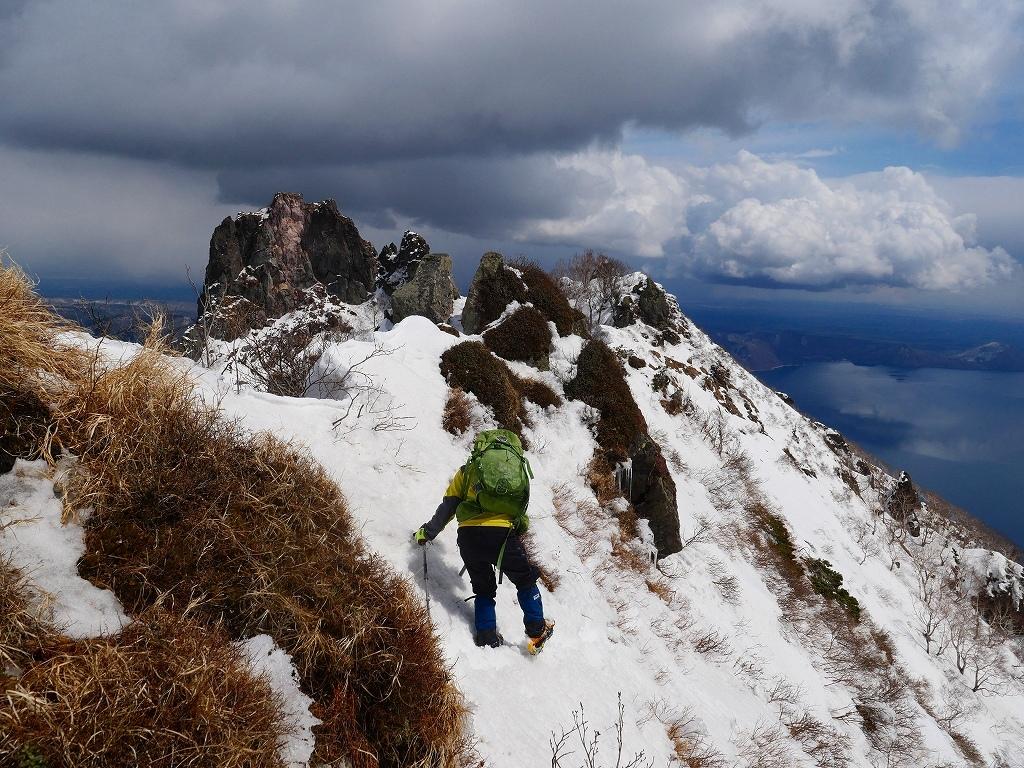 恵庭岳西峰、2019.4.11_f0138096_22421197.jpg