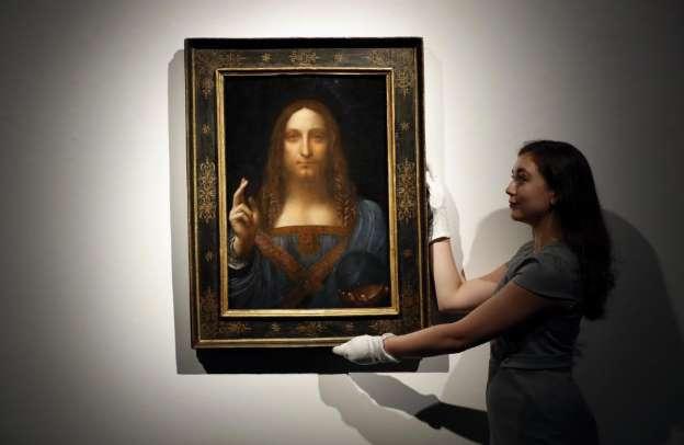 最高額の絵、ダビンチ作に疑義 500億円、キリスト描いた作品 _b0064113_12135531.jpg