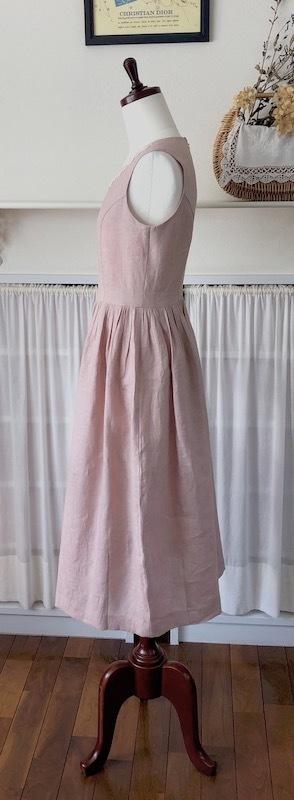 ピンクのフレンチリネンでワンピース♪_f0182167_14581016.jpeg