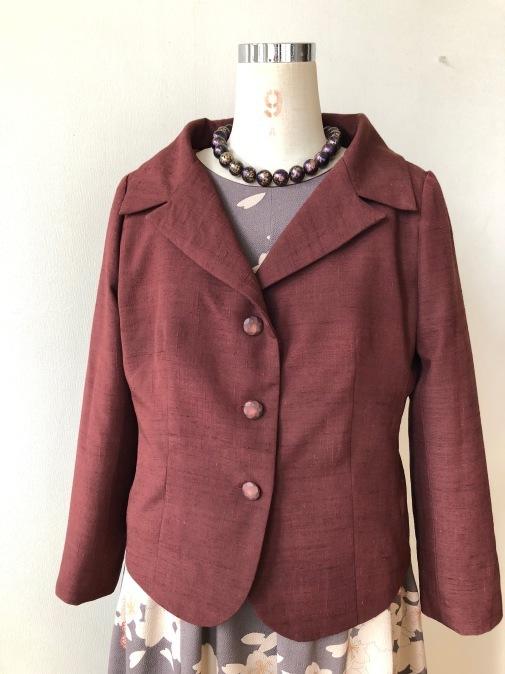 着物リメイク・紬の着物からジャケット_d0127925_18482095.jpg