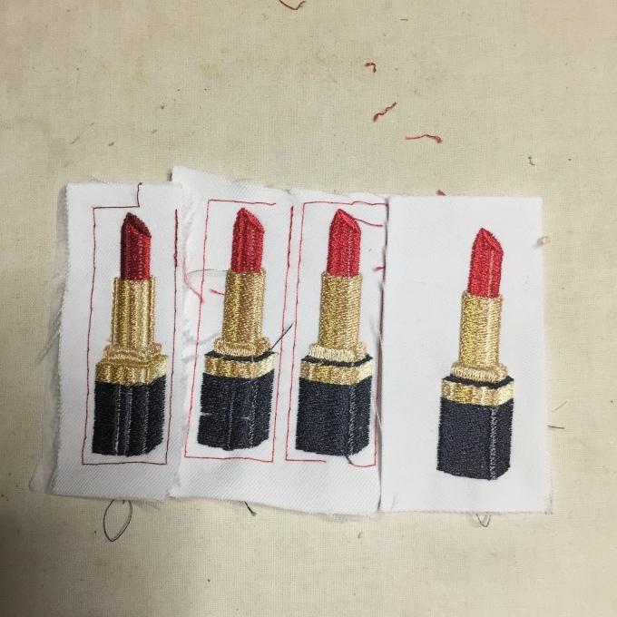 口紅の刺繍(^^)_e0385587_21120995.jpeg