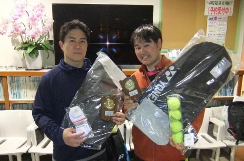 2019年4月14日(日)ナイター男子ダブルス_b0158200_10442041.jpg