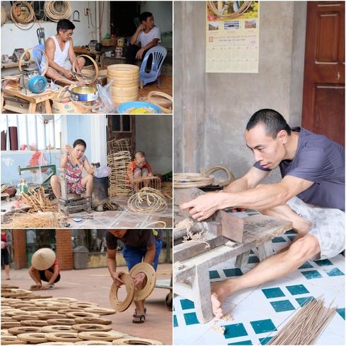 すげ笠を作る村Lang Chuongと鳥籠を作る村Thanh Oai_f0204175_178326.jpg