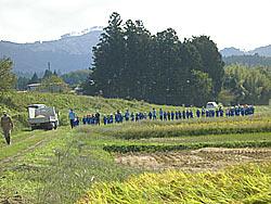 稲刈り体験(下目黒小・枝野小) _d0247484_16213580.jpg