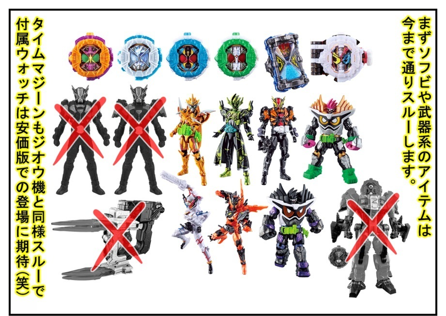 【漫画で雑記】3月9日~3月30日発売の仮面ライダージオウ玩具を厳選しつつ購入!!_f0205396_15534240.jpg