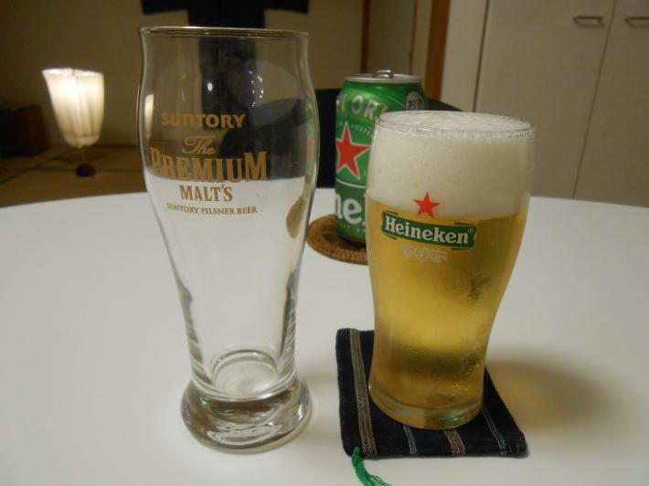 ハイネケンのグラスが謎・・  水で検証しました。_a0095931_21482312.jpg