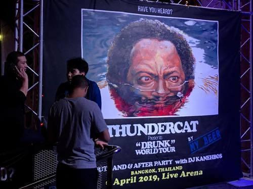 "THUNDERCAT \""DRUNK\"" ワールドツアーバンコク公演 @LIVE + ニプシー・ハッスル殺人容疑者記事_f0044063_23032448.jpg"