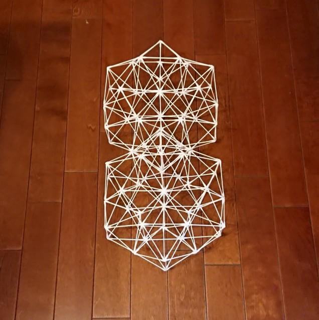 綿棒で立体図形を作ってみた_e0167593_01192234.jpg