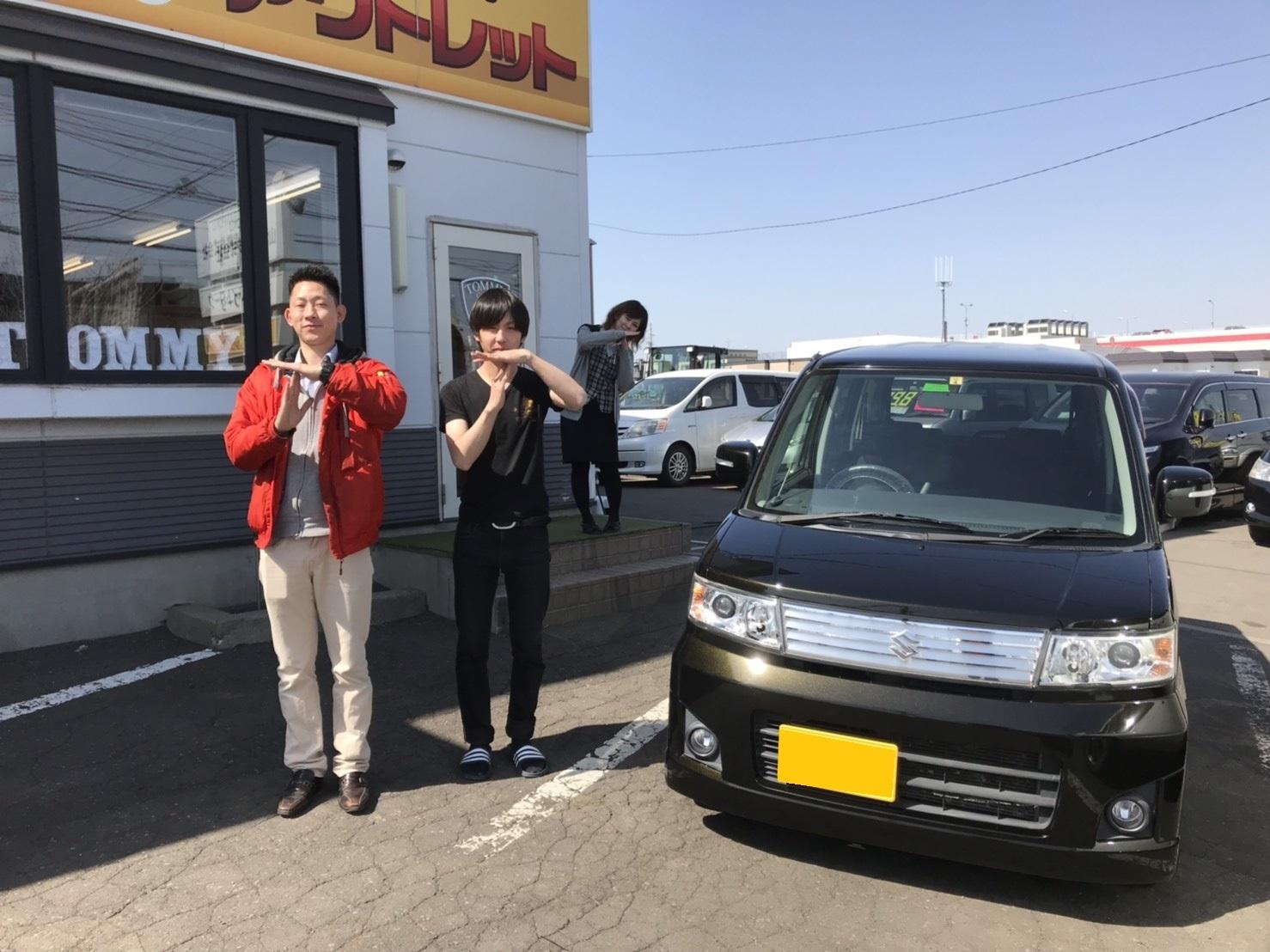 4月17日(水)☆TOMMYアウトレット☆あやあゆブログ(∩ˊ꒳ˋ∩)・* ワゴンR A様納車♪たくさんのご来店ありがとうございます♡_b0127002_16593038.jpg