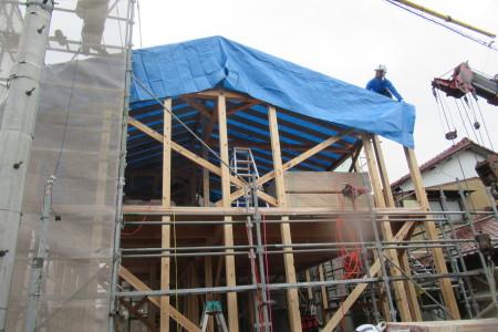 「東町の家」建て前_b0179213_20105187.jpg