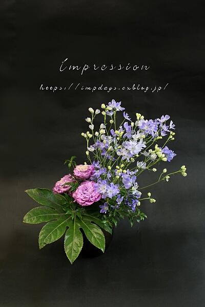 先週の定期装花から セレブグレープ_a0085317_15400628.jpg