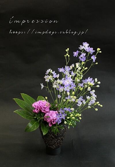 先週の定期装花から セレブグレープ_a0085317_15401049.jpg