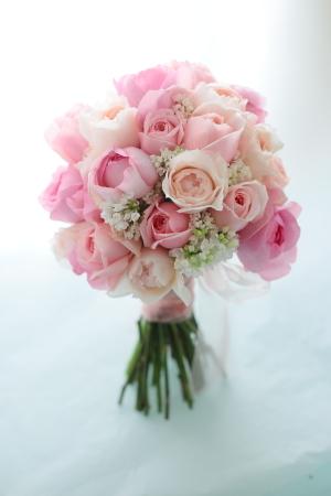 クラッチブーケ 軽井沢高原教会様へ ピンクのバラとライラックで_a0042928_13454953.jpg