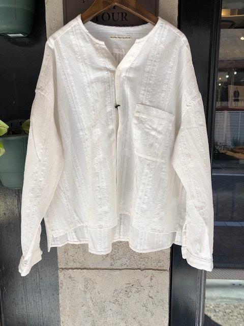 GRANDMA MAMA DAUGHTER Checktuck Wide Pants& Skipper Shortshirt_a0222424_16291299.jpg