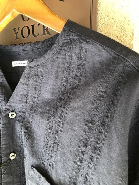 GRANDMA MAMA DAUGHTER Checktuck Wide Pants& Skipper Shortshirt_a0222424_16293643.jpg