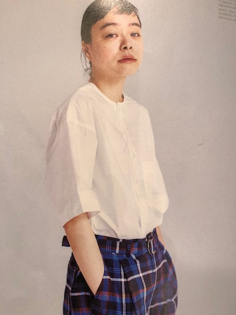 GRANDMA MAMA DAUGHTER Checktuck Wide Pants& Skipper Shortshirt_a0222424_16301305.jpg